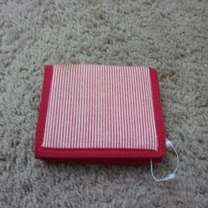Sanrio Bags - Hello Kitty Wallet Fold out Pocket NWOT Red Stripe